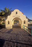 Morning light on the arch leading to Via Casino, Avalon, Catalina Island, California Stock Photo
