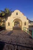 Morning light on the arch leading to Via Casino, Avalon, Catalina Island, California Stock Photo
