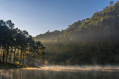 Morning Light At Pang Ung Lake Royalty Free Stock Photo