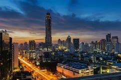 Morning light in Bangkok. With Baiyok tower Stock Photography