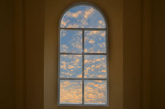 Morning light in beautiful window view Royalty Free Stock Images