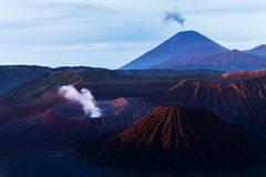 Morning light on Bromo volcano Stock Photography