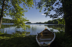 Morning Light on a Canoe Royalty Free Stock Image