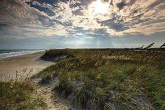 Morning Light Cape Hatteras Seashore North Carolina Royalty Free Stock Image
