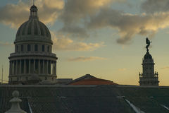Morning light on the Capitolio, the Cuban capitol building and dome in Havana, Cuba Stock Image