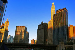 Morning light of Chicago. Chicago buildings in day light. USA Stock Photography