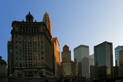 Morning light of Chicago. Chicago buildings in day light. USA Royalty Free Stock Image