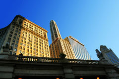 Morning light of Chicago stock photography