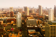 Morning light of Chicago. Chicago buildings in day light. USA Royalty Free Stock Images