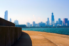 Morning light of Chicago royalty free stock image