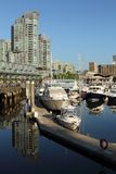 Morning Light, Coal Harbor, Vancouver Stock Image