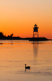 Morning Light Harbor Grand Marais Lighthouse Lake Superior Minne Royalty Free Stock Photo