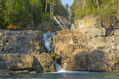 Morning Light on Hidden Falls in the Mountains Royalty Free Stock Photography
