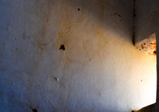 Morning light, India. Dark ruined room brightened bu the morning sun Royalty Free Stock Image