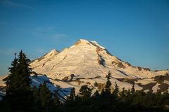 Morning light on Mount Baker, Washington state Cascades Royalty Free Stock Photo