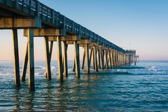 Free Morning Light On The M.B. Miller County Pier And Gulf Of Mexico, In Panama City Beach, Florida Stock Photos - 147567033