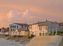 Free Morning Light On The Shore Of A Fishing Village Stock Photo - 20690660