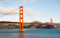 Morning light over Golden Gate Bridge. Rare catch - morning sun is shining over Golden Gate, no fog and sky is almost clear Royalty Free Stock Image