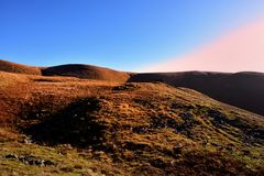 Morning light on Great Sca Fell Stock Photo