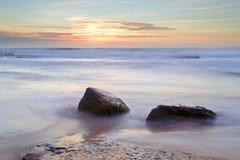 Morning light over the ocean at Bungan Beach Newport Stock Photos