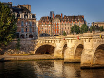 Morning light over the River Seine, Pont Neuf and Ile de la Cit Stock Image
