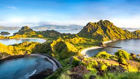 Morning Light on Padar Island royalty free stock image