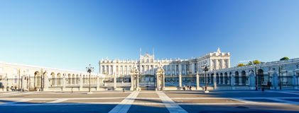 Morning light at Palacio Real , Madrid Stock Photography