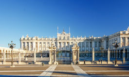Morning light at Palacio Real , Madrid Stock Photos