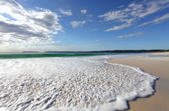 Morning light on the pristine beaches of Australia Stock Image