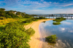 Morning light at Salt Run, in St. Augustine, Florida. Stock Image