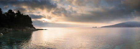 Morning light at the sea royalty free stock photography