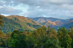 Morning light upon the Smokies Stock Photos
