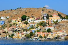 Morning light at Symi town , Greece Stock Photography