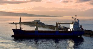 Morning light on tanker Royalty Free Stock Image