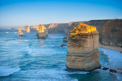 Morning light on the Twelve Apostles Royalty Free Stock Photos