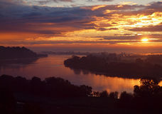 Morning light on the Vistula River. Stock Photography