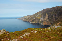 Ireland: morning lights at Slieve League, Donegal. Slieve League cliffs, Donegal, Ireland royalty free stock photo