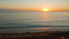 Morning Look at Sunrise. Sun rising over the caribic ocean in Belize, Hopkins resort stock video