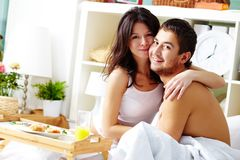 Morning lovers Stock Photography