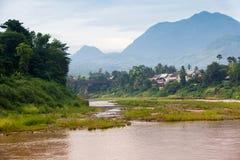 Morning in Luang Prabang, Laos. Tranquil morning in beautiful Luang Prabang, UNESCO heritage town, Laos stock image