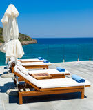 Morning in luxury resort near Mediterranean sea Stock Images