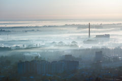 Morning Lviv City outskirts (Ukraine) view Royalty Free Stock Image