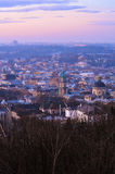 Morning in Lviv. Sunrise in the Lviv from the High Castle Royalty Free Stock Image