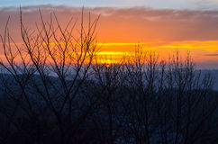 Morning in Lviv 15. Sunrise in the Lviv from the High Castle Royalty Free Stock Photography