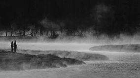 Morning on the Madison River, Yellowstone. Royalty Free Stock Photography
