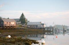 Morning at Maine marina Stock Image