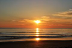 Morning in Maine. Sunrise in York Maine Beach Royalty Free Stock Photography