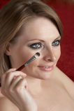 Morning make up. Woman is doing morning make up Royalty Free Stock Photos
