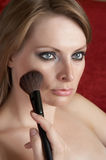Morning make up. Woman is doing morning make up Royalty Free Stock Image