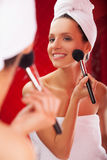 Morning make-up. Royalty Free Stock Image